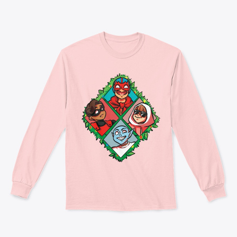 Lucha And Pals Light Pink T-Shirt Front