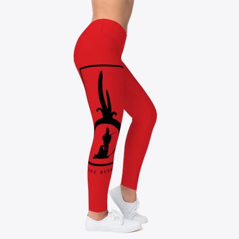 We Are Bermuda Leggings Red T-Shirt Right