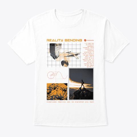 Reality Bending   Neobeats® White T-Shirt Front