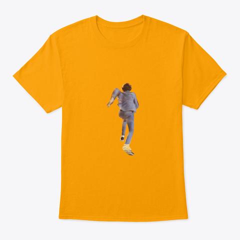 Running Matthias Gold T-Shirt Front