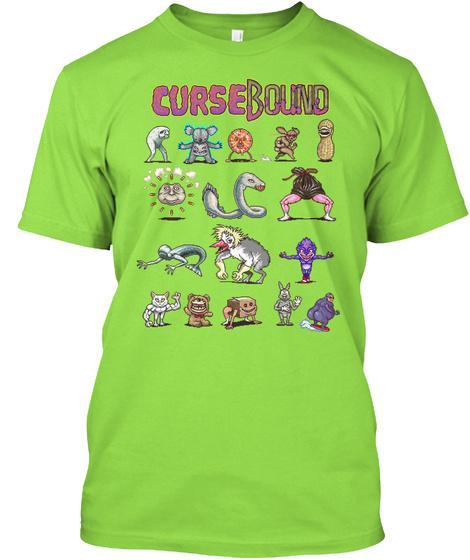Curse Bound Lime T-Shirt Front