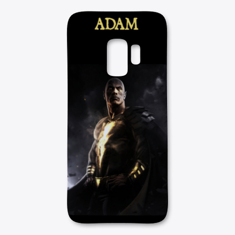 Black Adam Phone Case Black T-Shirt Front