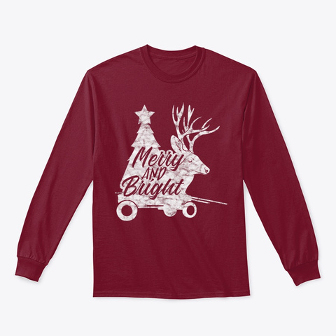 Christmas   Merry And Bright T Shirt Cardinal Red T-Shirt Front