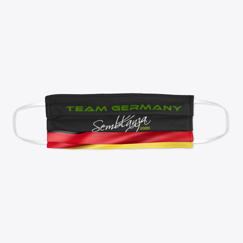 Team Germany! Black T-Shirt Flat