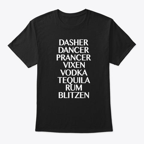 Christmas Drinking Shirt Black T-Shirt Front