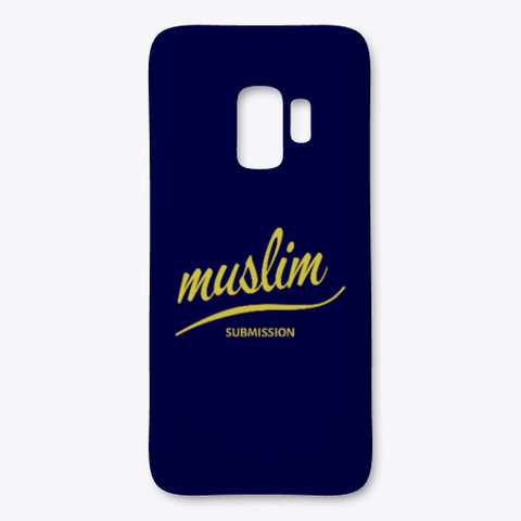 Muslim Submitting Islamic Phone Case Dark Navy T-Shirt Front