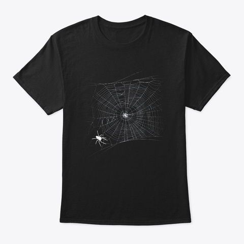 Scary Spider Web T Shirt Black Widow Black T-Shirt Front