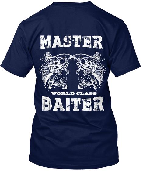 Master World Class Baiter Navy T-Shirt Back