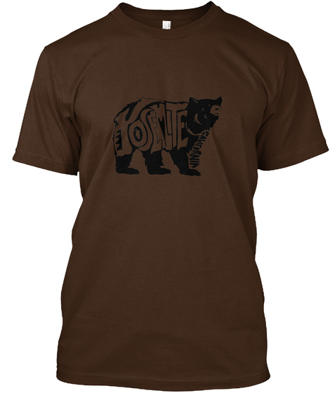 Locally Made 1 Yosemite Bear Graphic Tee Dark Chocolate T-Shirt Front