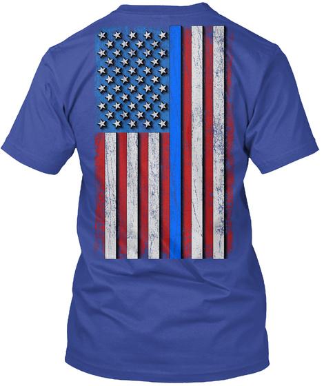 Cops: Real American Heroes Deep Royal Maglietta Back