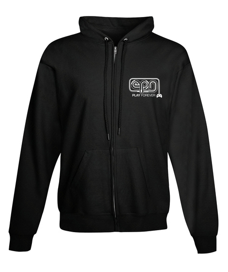 The Epn Hoodie! Black Sweatshirt Front