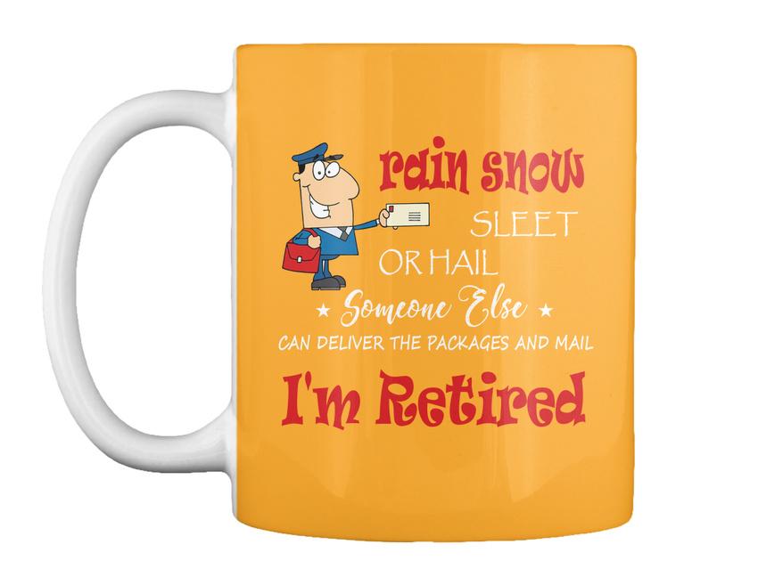 miniature 57 - Funny Retired Postal Worker Mailman Tee - Rain Suck Sleet Or Gift Coffee Mug