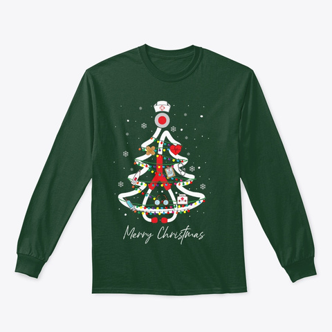 Nurse Yuletide Practitioners Cute Gifts Forest Green T-Shirt Front