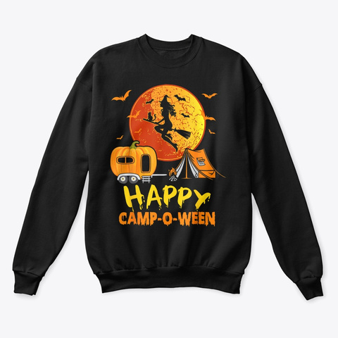 Happy Camp O Ween Halloween Shirt Black T-Shirt Front