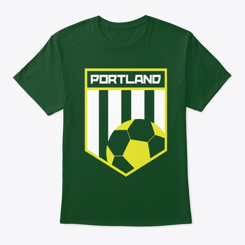 Portland Men Women Kids Soccer 503  Deep Forest T-Shirt Front