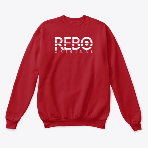 Rebo I Sweater Deep Red  T-Shirt Front