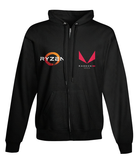 Ryzen Radeon Do Vega Black Sweatshirt Front