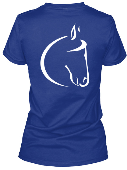 Carson James Ladies V Neck Fitted Tee Deep Royal T-Shirt Back