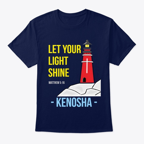 Let Your Light Shine Navy T-Shirt Front