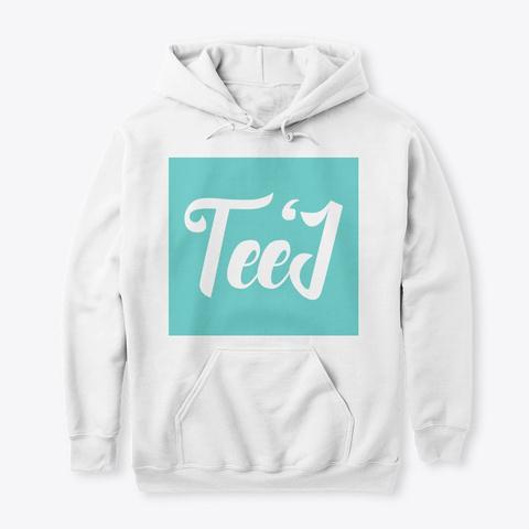 Teej Films Classic Block Logo Design White T-Shirt Front