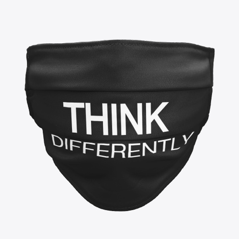 Think Differently   Masks Black T-Shirt Front