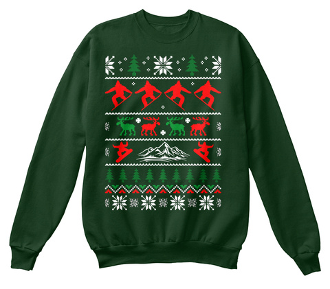 from funny ugly christmas sweater oin deep forest sweatshirt front - Hilarious Ugly Christmas Sweaters