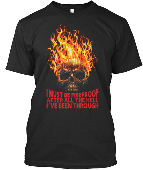 Fireproof Black T-Shirt Front