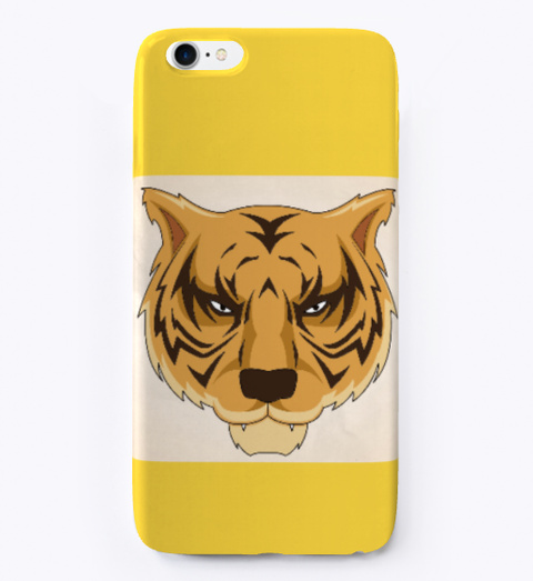 Iphone Case Yellow T-Shirt Front