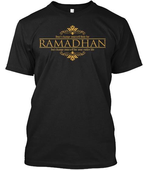 Ramadhan Shirt Black T-Shirt Front