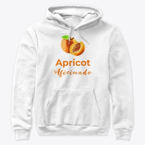 Apricot Aficionado White T-Shirt Front