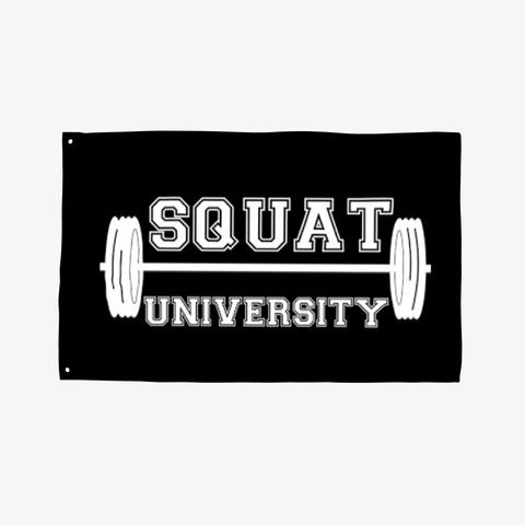 Squat University Flag Black T-Shirt Front