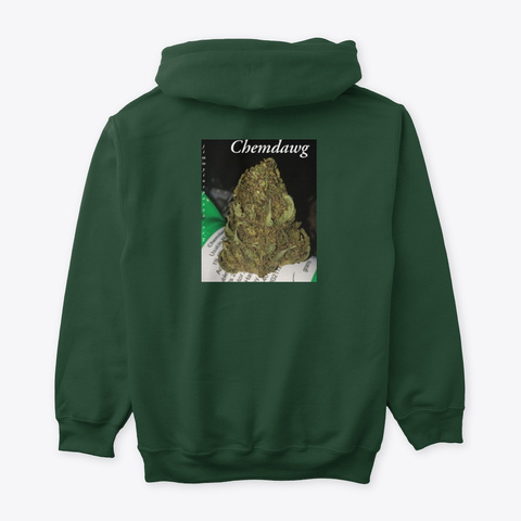 Jimmyinspaz Zz 'chemdawg' Forest Green T-Shirt Back