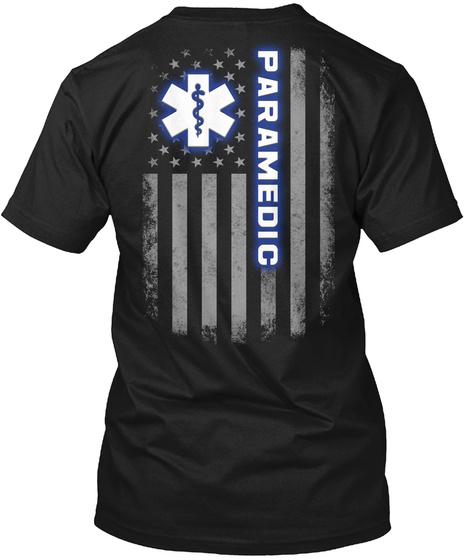 Paramedic Black T-Shirt Back