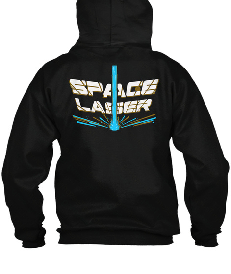 (Us) Space Laser Zip Up Black T-Shirt Back
