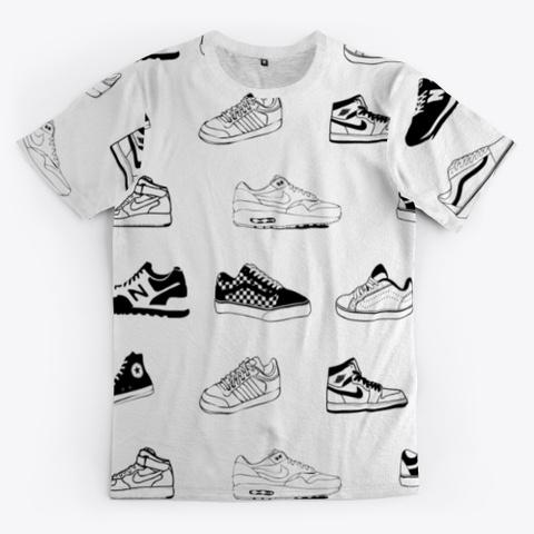 Old School 80s Sneaker A Standard T-Shirt Front