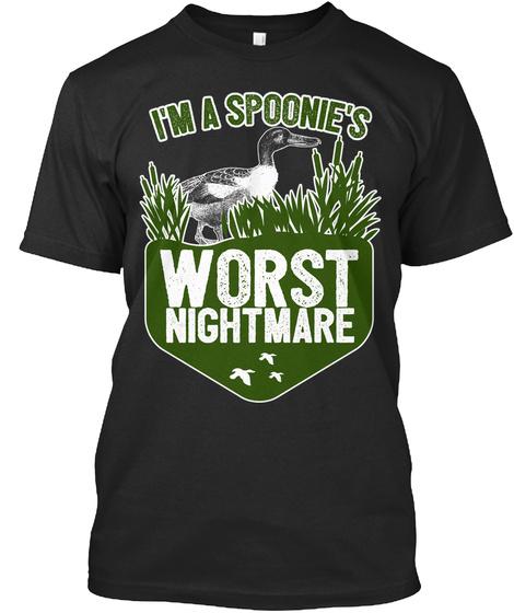 Im A Spoonies Worst Nightmare Black T-Shirt Front