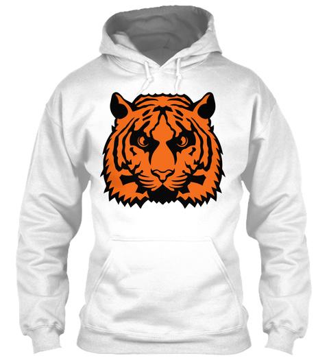 Tiger Head Animals Wild 7012 White T-Shirt Front