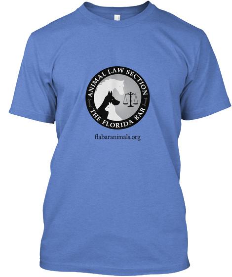 Animal Law Section The Florida Bar Flabaranimals.Org Heathered Royal  T-Shirt Front