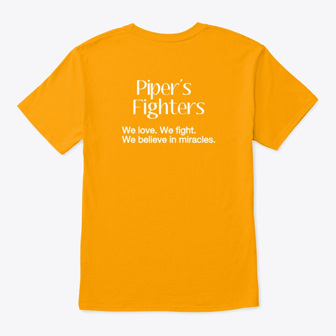 #Fight4 Pipe Gold T-Shirt Back