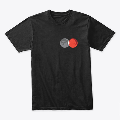 From Moon To Mars 🚀 #Sfsf Black T-Shirt Front