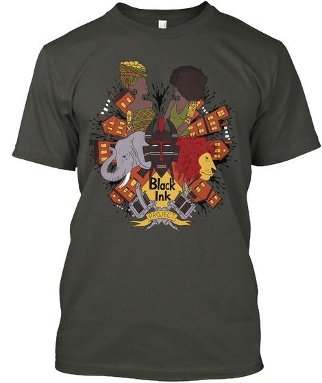 Black Ink Smoke Gray T-Shirt Front