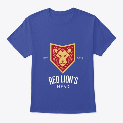 Red Lion's Head Pub T Shirt Deep Royal T-Shirt Front