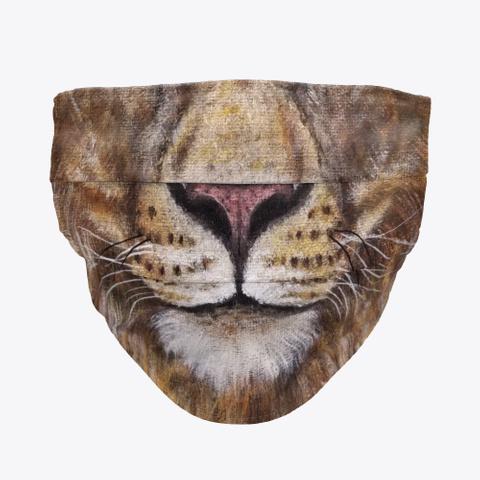 Lion Face Mask Standard T-Shirt Front