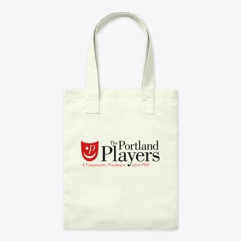 Portland Players Logo Natural T-Shirt Front