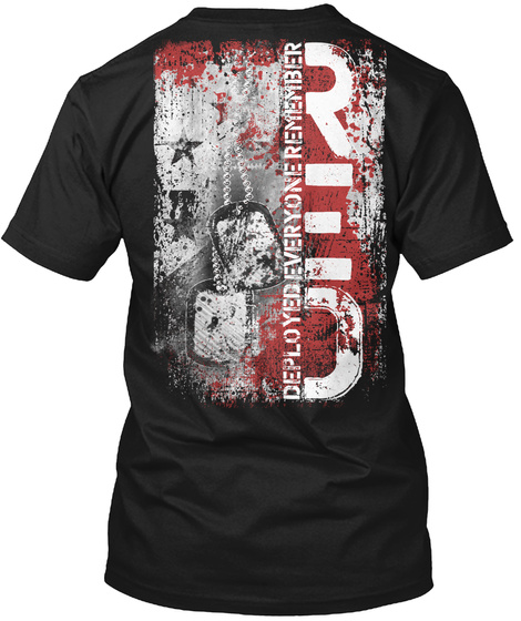 Remember Everyone Deployed Red Black áo T-Shirt Back