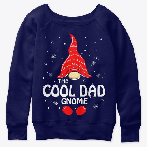 Cool Dad Gnome Family Matching Christmas Navy  T-Shirt Front