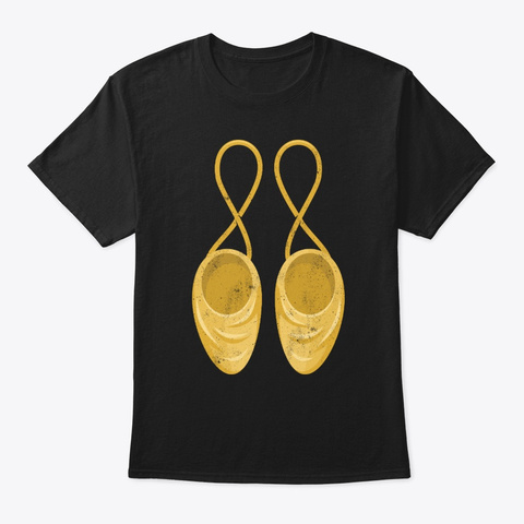 Ballet Dancer Shoes Ballerina  Black T-Shirt Front