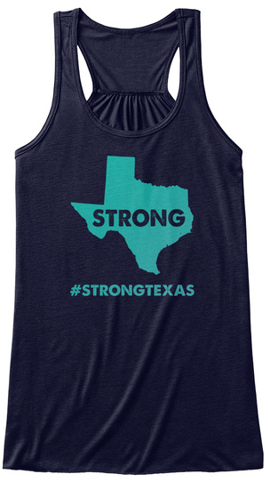 Texas Women Hurricane Harvey Florence Midnight Women's Tank Top Front