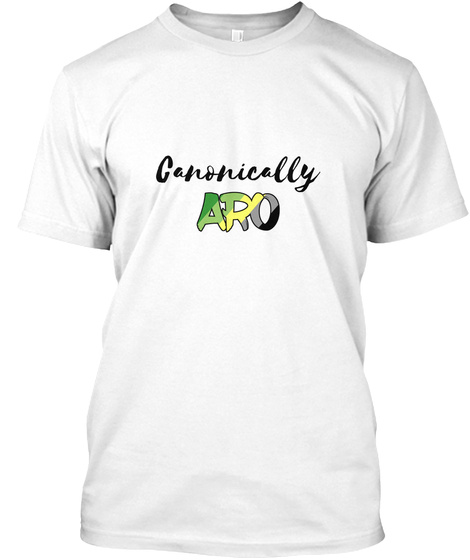 Canonically Aro White T-Shirt Front