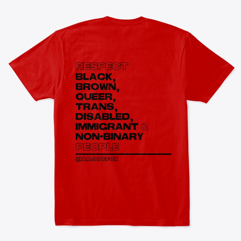 Respect   Black Classic Red T-Shirt Back